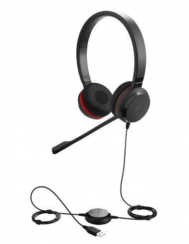 Evolve 30- Stereo UC + câble - Angle